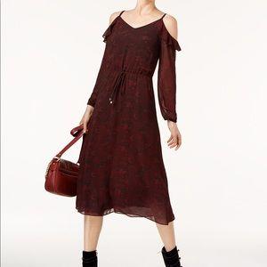 MK Animal Print Cold Shoulder Dress